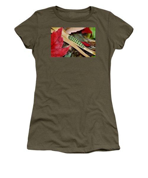 Black Swallowtail Butterfly Caterpillar Women's T-Shirt