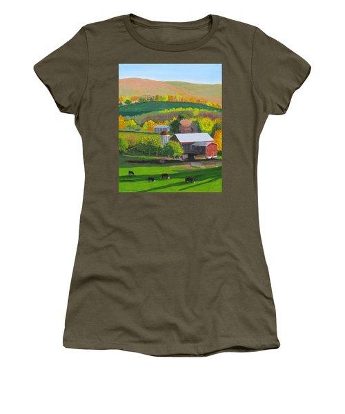 Blazing Autumn Color Women's T-Shirt (Athletic Fit)