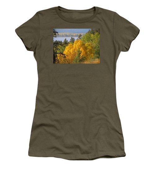 Blazing Yellow Women's T-Shirt (Junior Cut) by Leone Lund