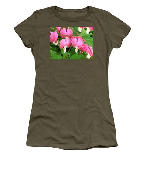 Bleeding Hearts On Parade Women's T-Shirt (Athletic Fit)