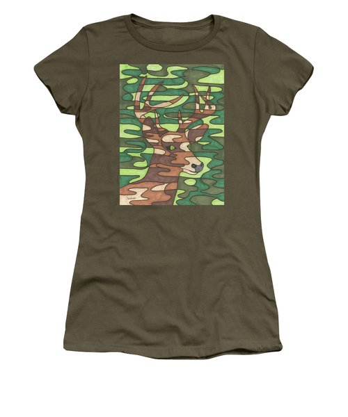 Women's T-Shirt (Junior Cut) featuring the painting Blending In by Susie WEBER