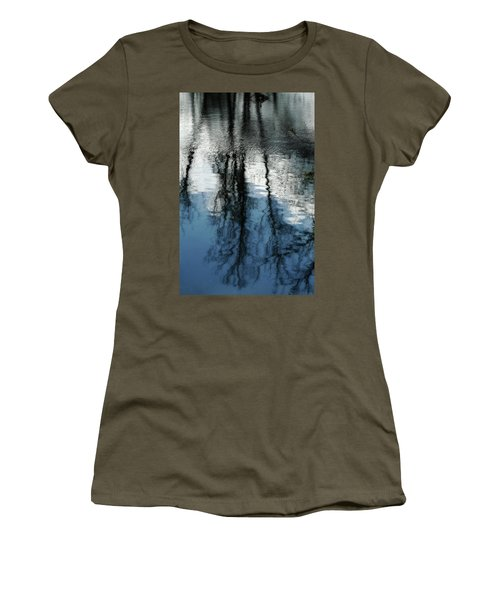 Blue And White Reflections Women's T-Shirt