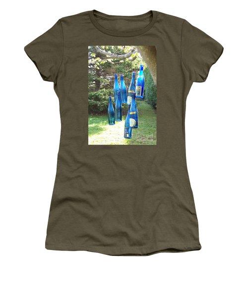 Blue Bottle Tree Women's T-Shirt (Junior Cut) by Jackie Mueller-Jones
