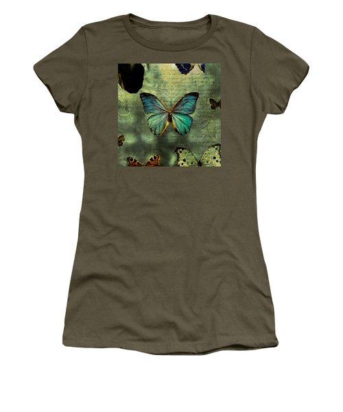 Blue Butterfly Women's T-Shirt