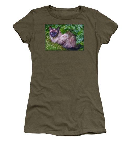 Women's T-Shirt (Junior Cut) featuring the photograph Blue Eyes by Hanny Heim