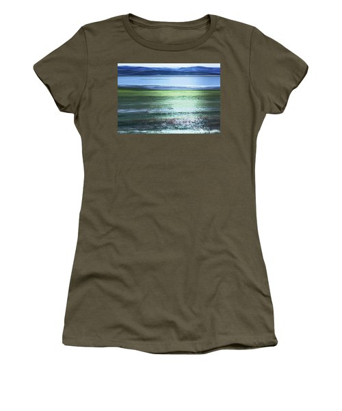 Women's T-Shirt featuring the photograph Blue Green Landscape by Belinda Greb