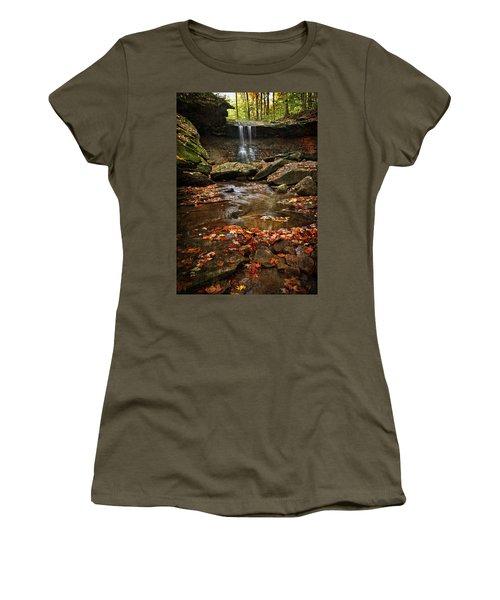 Blue Hen Falls In Autumn Women's T-Shirt