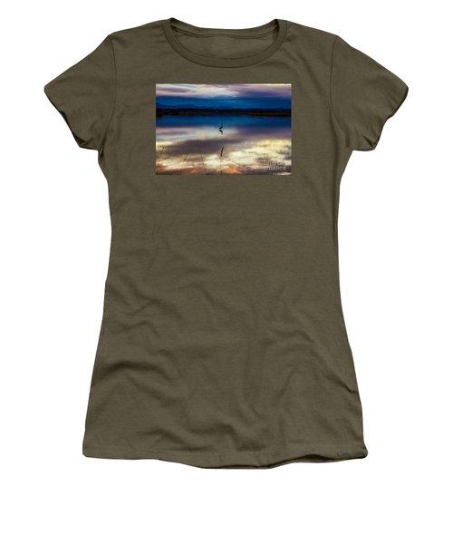 Blue Heron Sun Set Women's T-Shirt
