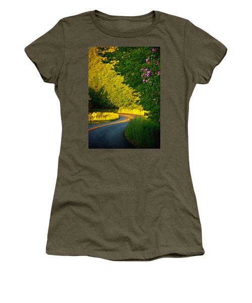 Blue Ridge Afternoon Women's T-Shirt (Junior Cut) by John Haldane