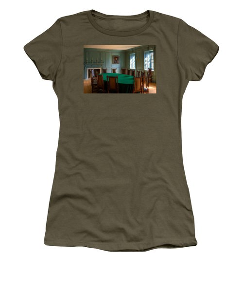 Women's T-Shirt (Junior Cut) featuring the photograph Blue Room 2 Wren Building by Jerry Gammon