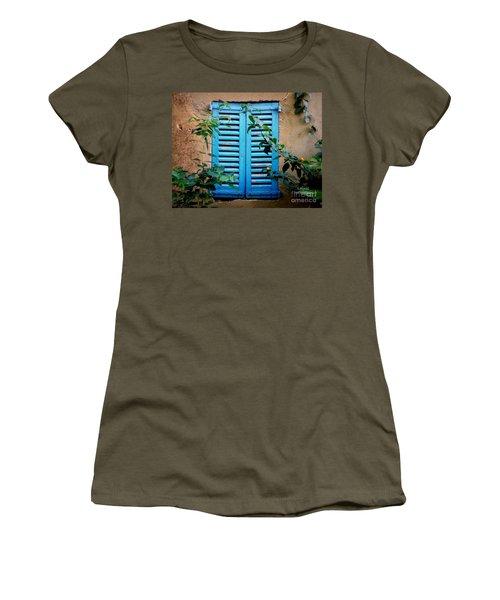 Blue Shuttered Window Women's T-Shirt