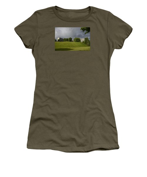 Women's T-Shirt (Junior Cut) featuring the photograph Blue Visions 3 by Teo SITCHET-KANDA