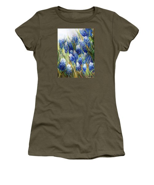 Bluebonnet Barrage  Women's T-Shirt (Junior Cut) by Patti Gordon