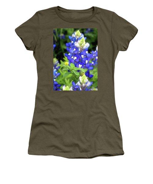 Bluebonnets Blooming Women's T-Shirt (Junior Cut) by Stephen Anderson