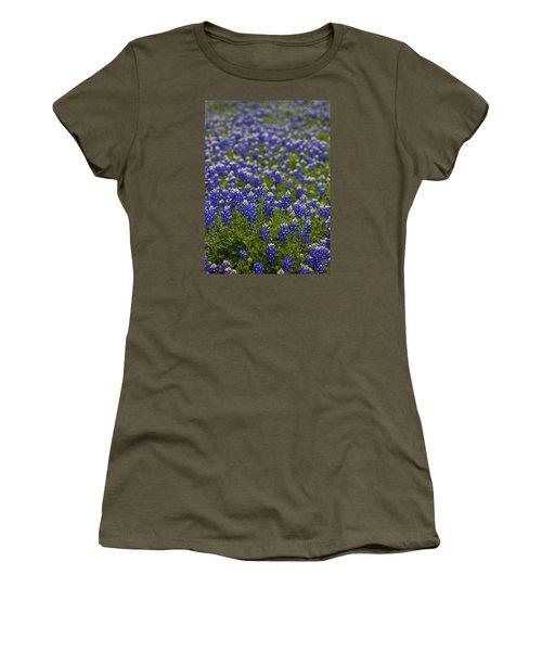 Bluebonnets Forever Women's T-Shirt (Junior Cut) by Mark Alder