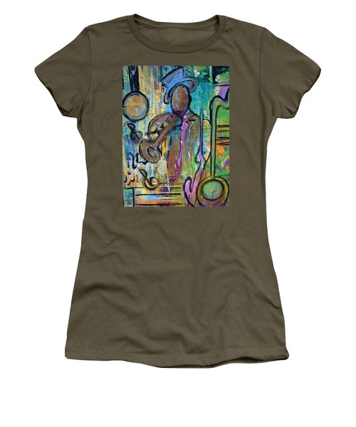 Blues Jazz Club Series Women's T-Shirt (Athletic Fit)