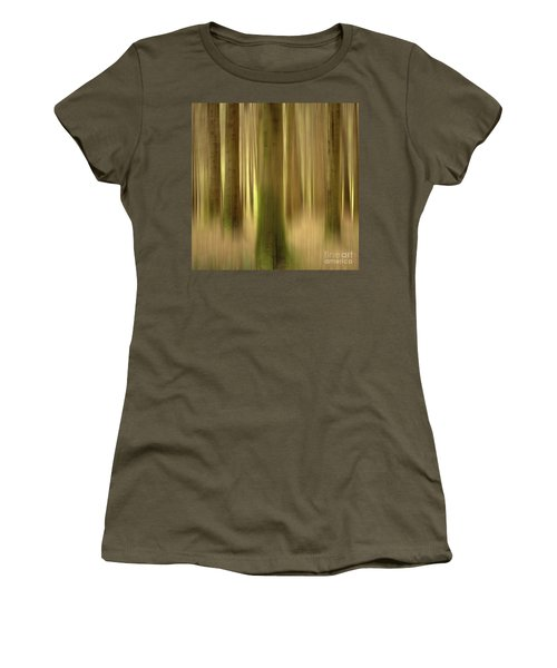 Blurred Trunks In A Forest Women's T-Shirt