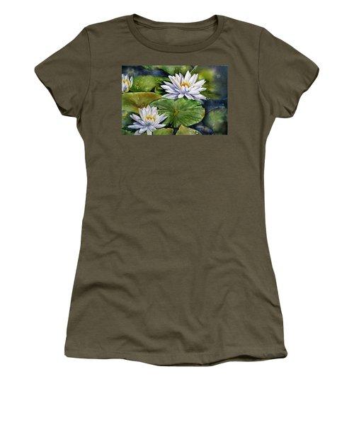 Boardwalk Lilies Women's T-Shirt (Junior Cut)