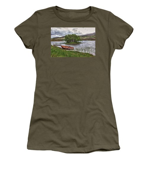 Boat On Lake Bank 1929 Women's T-Shirt