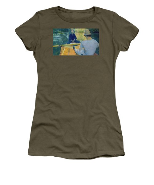 Boaters On The Yerres Women's T-Shirt