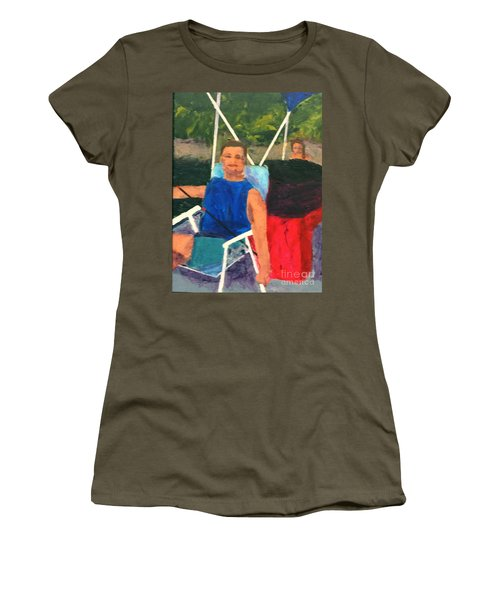 Women's T-Shirt (Junior Cut) featuring the painting Boating by Donald J Ryker III