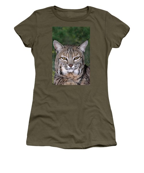 Bobcat Portrait Wildlife Rescue Women's T-Shirt (Athletic Fit)