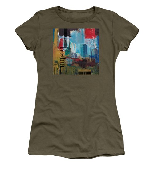 Boston City Collage 3 Women's T-Shirt (Athletic Fit)