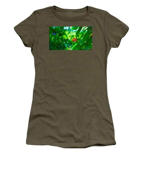 Botanical Garden Butterfly Women's T-Shirt