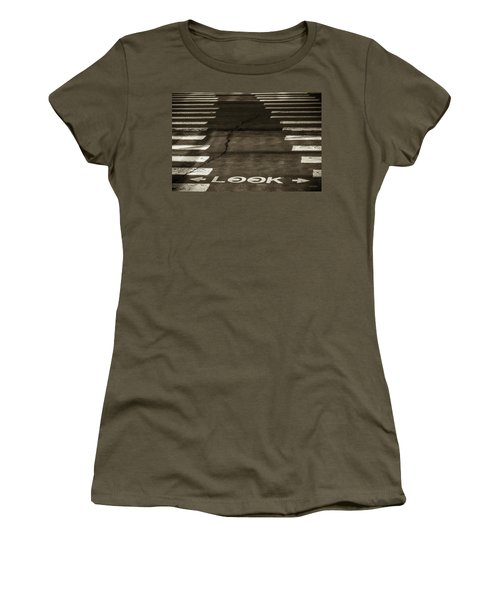 Both Ways - Urban Abstracts Women's T-Shirt (Athletic Fit)