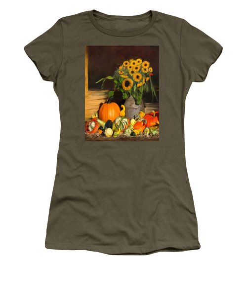 Bountiful Harvest - Floral Painting Women's T-Shirt (Athletic Fit)