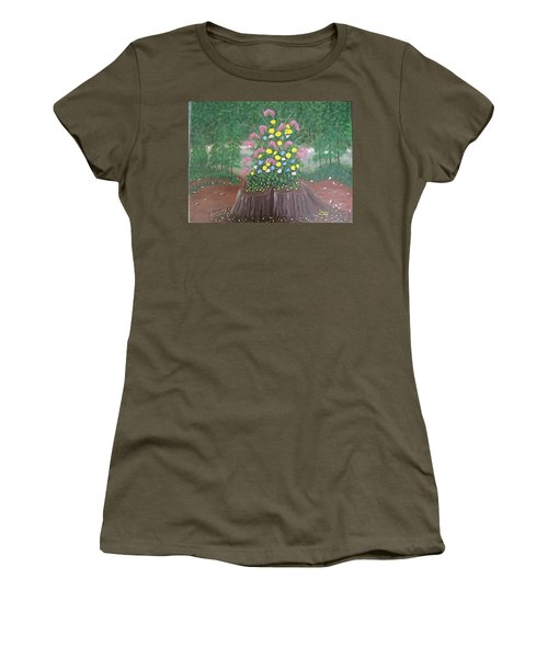 Bouquet On A Stump Women's T-Shirt