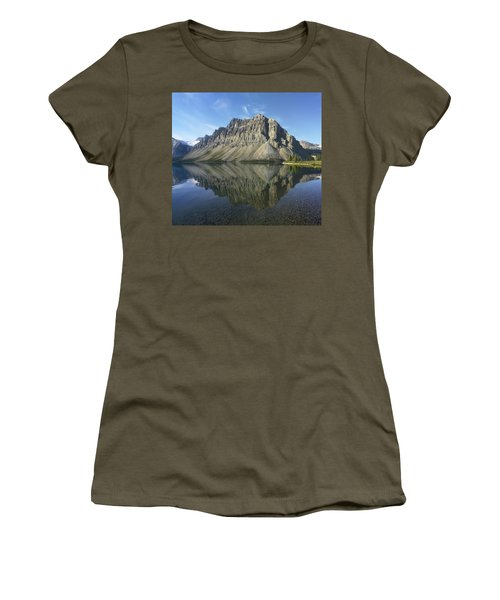 Bow Lake And Crowfoot Mts Banff Women's T-Shirt