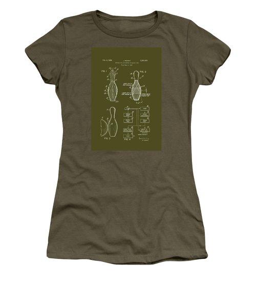 Bowling Pin Patent 1968 Women's T-Shirt