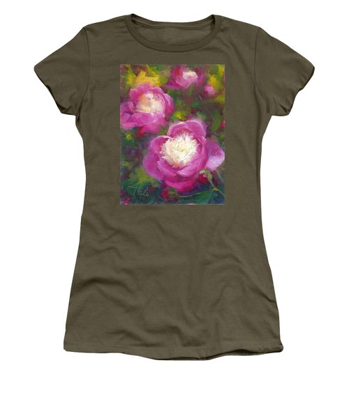 Bowls Of Beauty - Alaskan Peonies Women's T-Shirt (Athletic Fit)
