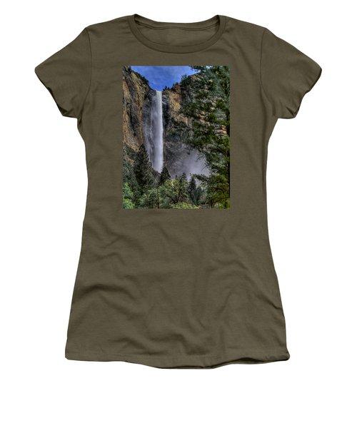 Bridalveil Falls Women's T-Shirt (Junior Cut) by Bill Gallagher