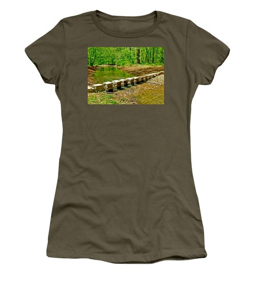 Bridge Across Colbert Creek At Mile 330 Of Natchez Trace Parkway-alabama Women's T-Shirt (Athletic Fit)