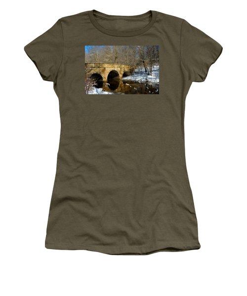 Bridge In Woods Women's T-Shirt