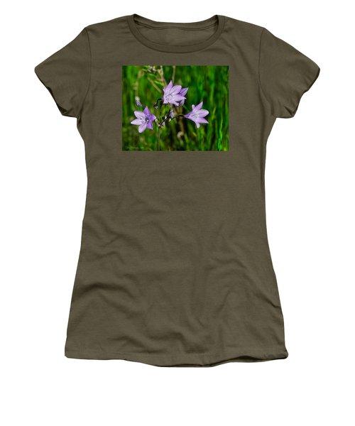 Women's T-Shirt (Junior Cut) featuring the photograph Bridges' Triteleia by Jim Thompson
