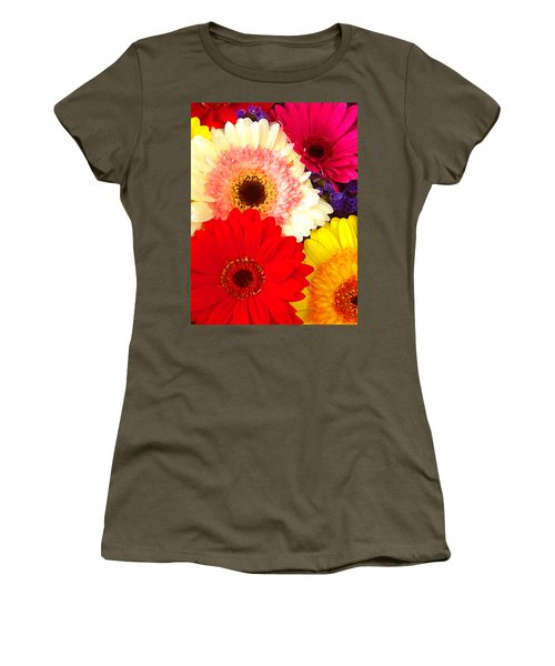 Brightly Colored Gerbers Women's T-Shirt