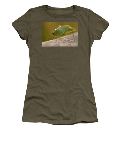Broad-winged Katydid Women's T-Shirt (Athletic Fit)