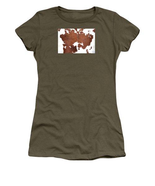 Brown Cowhide Women's T-Shirt (Junior Cut) by Gunter Nezhoda