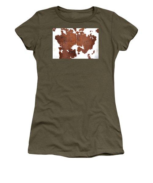 Brown Cowhide Women's T-Shirt