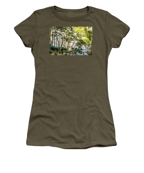 Bryant Park Midtown New York Usa Women's T-Shirt (Athletic Fit)