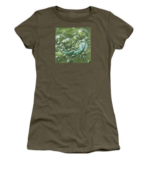Bubbles Women's T-Shirt (Junior Cut) by Jack Malloch
