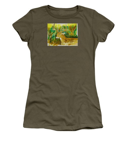 Buck Of A Lifetime Women's T-Shirt (Athletic Fit)
