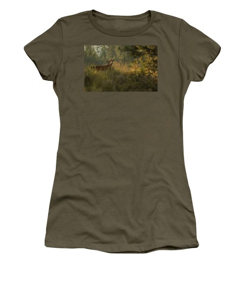 Bucks In Velvet Women's T-Shirt (Athletic Fit)
