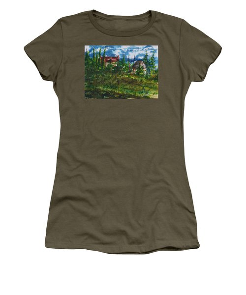Burgundy In The Morning  Women's T-Shirt