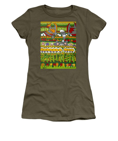 Busted Women's T-Shirt (Junior Cut) by Rojax Art