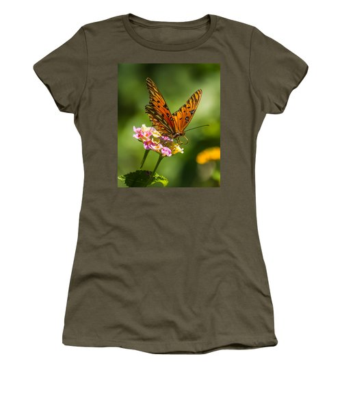 Busy Butterfly Women's T-Shirt (Athletic Fit)