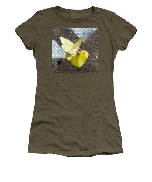 Sulfur Butterflies Mating Women's T-Shirt (Junior Cut) by Belinda Lee